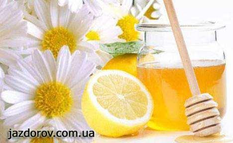Маска з меду і лимонного соку